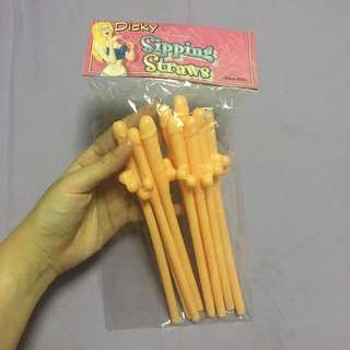NEW! Pecker Sipping Straws (10pcs per pack)
