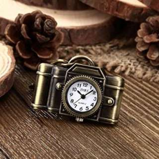 Retro Camera Bronze Alloy Vintage Keychain Quartz watches