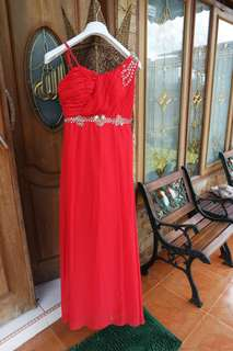 Red Maxi Dress Nego