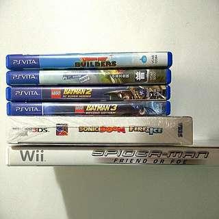 Vita/3DS/Wii Games