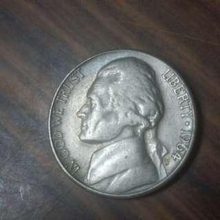 1964年美國5分硬幣