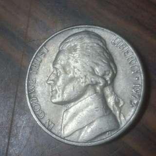 1973年美國5分硬幣
