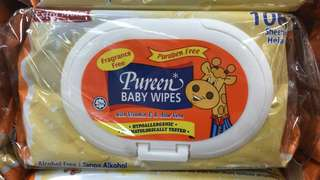March promotion-Pureen baby wipes (2 packs x 100sheet)