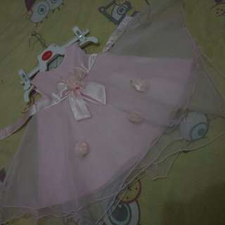 Pink baby gown