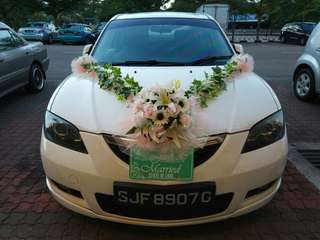 Wedding Car Flower (install not included)