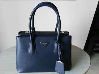 Prada Tote Bag Dark Blue - 100% authentic