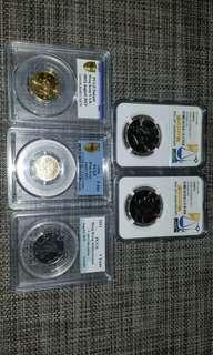 NGC PCGS 樣幣 sample 五枚