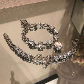 D&G vintage White Stone Bracelet $1500/pc