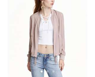 Bomber jacket h&m satin