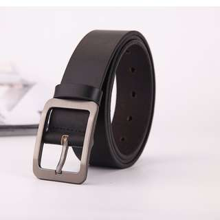 Buckle fancy genuine leather belt