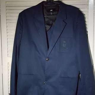 H&M Navy Blue Coat