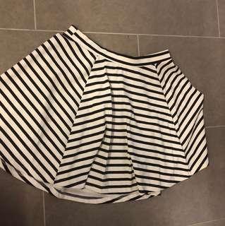 Cotton On striped Skater skirt