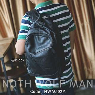 Backpack Platinum Leather North Wolf Man 502#p  Bag  Size : 28x10x42cm Original Brand Best Quality Material Leather Ready 2 colours : - Black - Coffee  Multi function : Backpack & Totes New Models Weight : 0,8 kg  H 230rb