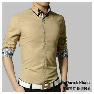 PPR- Derick khaki IDR 💯 rb Cotton Stretch Ld 104cm Pb 70cm