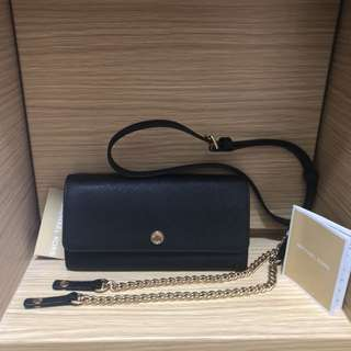 Michael Kors Jet Set Travel Wallet on Chain - Black (WOC Crossbody) 銀包 袋