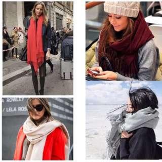 Maroon office shawl/ scarf