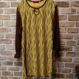 HUMAIRA TIGER LONG TOPS DRESS #rayaletgo