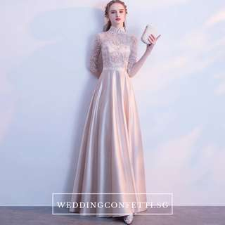 Evening Dress Mandarin Collar  Gown