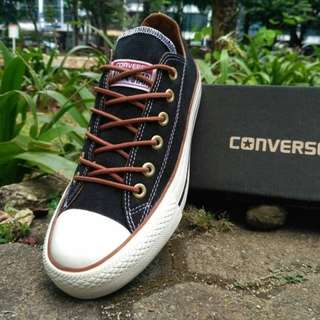 G06 - Converse OX Classic Black hole brown unisex vietnam