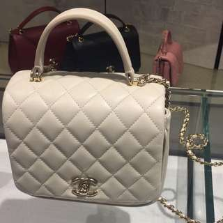 Chanel mini square with handle