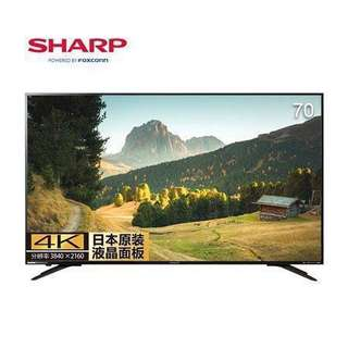 Sharp 70吋 4K Android 4K TV