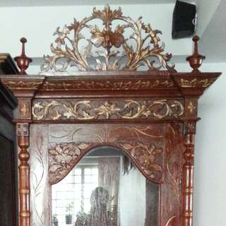 Peranakan Old Antique Wood Cupboard Display