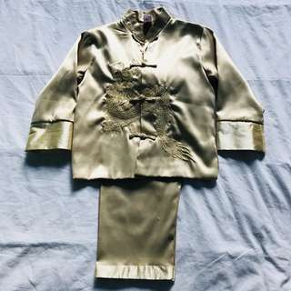 Chinese New Year gold suit age 8