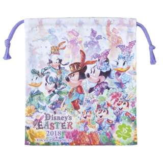 Tokyo Disneysea Disneyland Disney Resorts Sea Land Easter 2018 Drawstring Small Bag Preorder