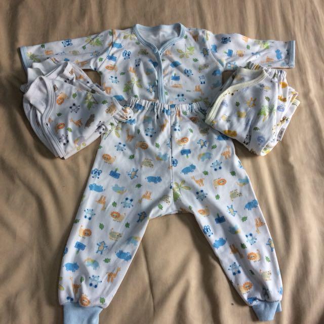 3 set Baju tidur lengan panjang baby fluffy