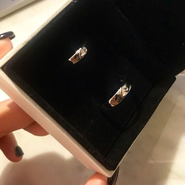 925 Silver Couple Ring Set