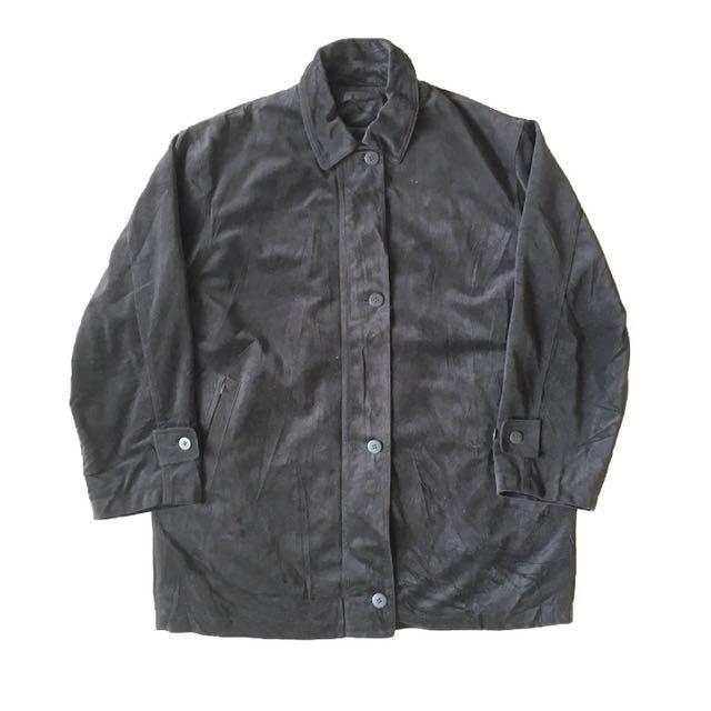 顛復古⚡️復古百搭低調絨布內裏可拆古著大衣外套❤️男女皆可