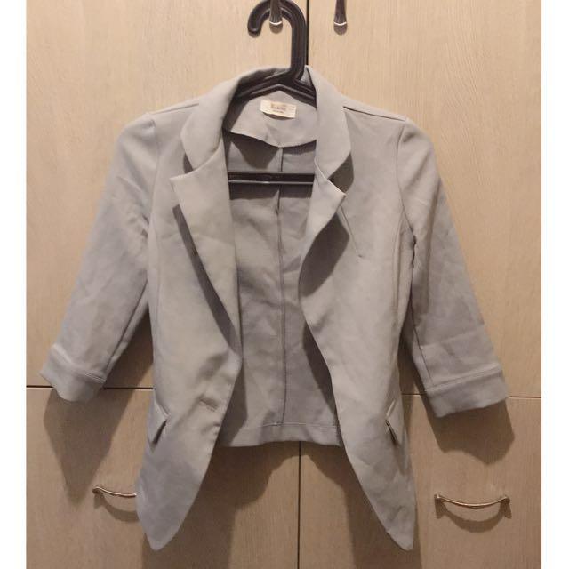 正韓 灰色 西裝外套