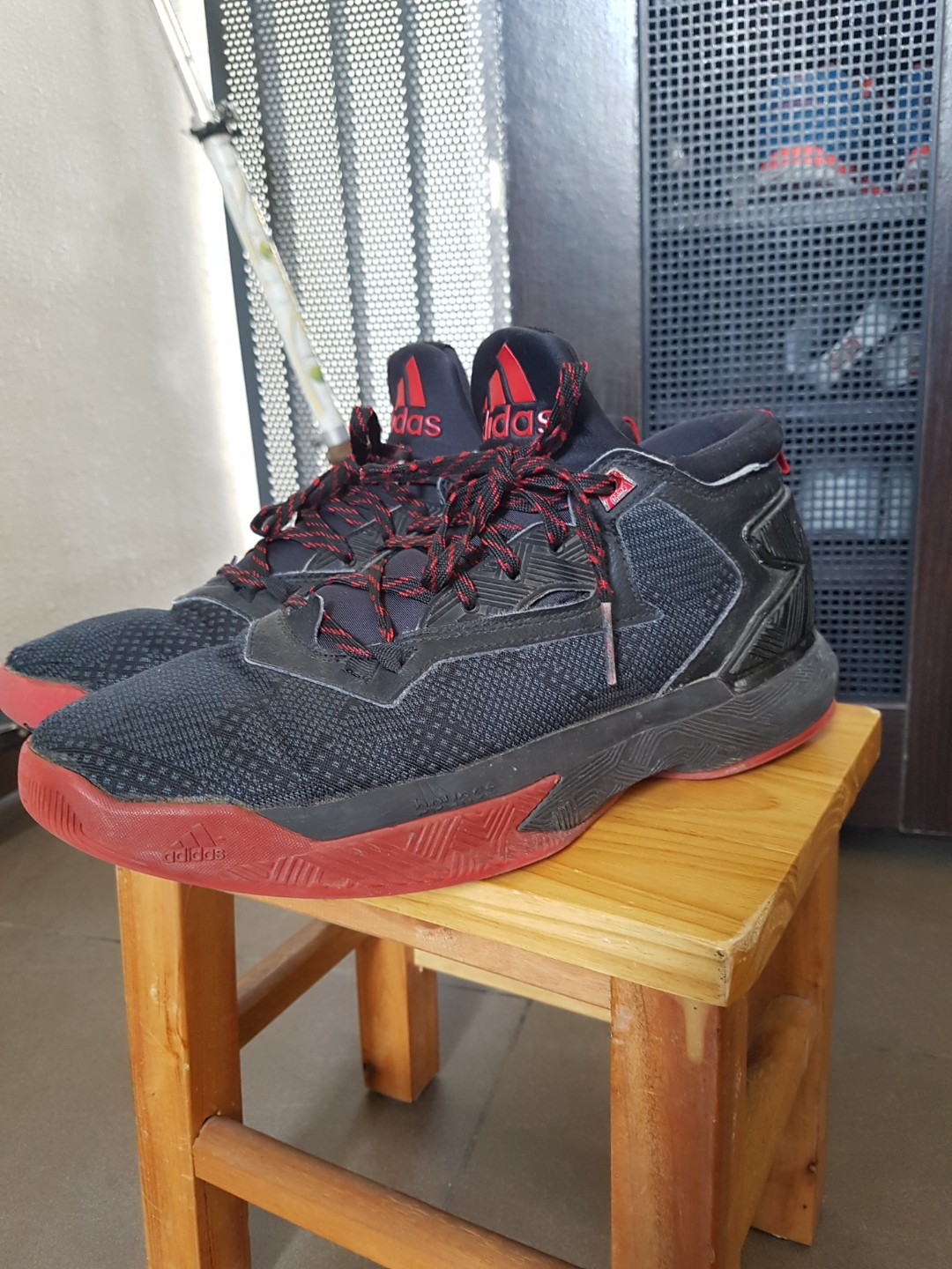 d69be4dce978 Adidas Dame Lillards 1.0 Red Black