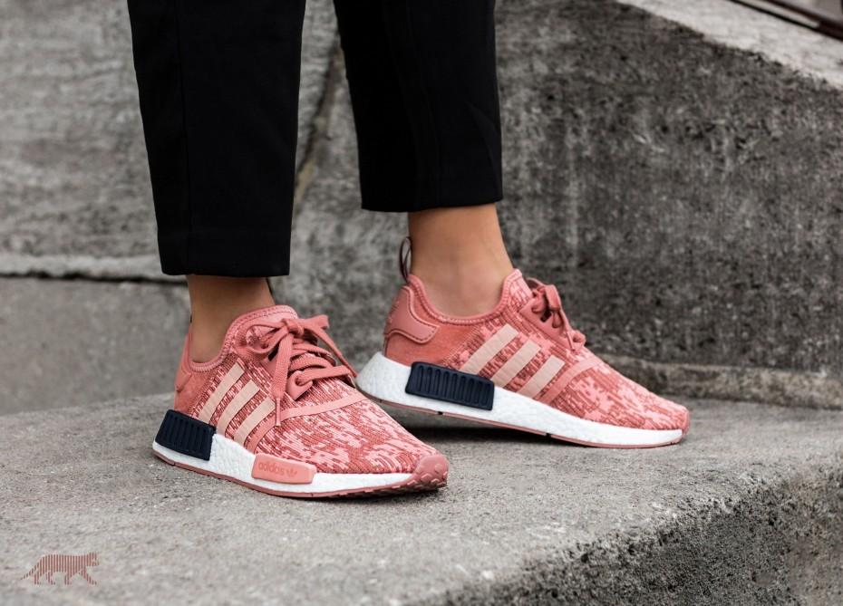 7e9873a2e UK6.5 Adidas NMD R1 - Glitch Salmon Raw Pink