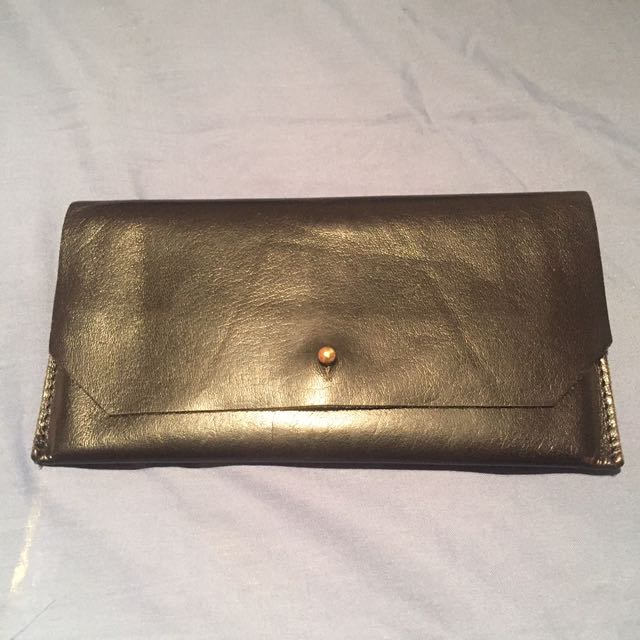 Asos leather unlined wallet purse