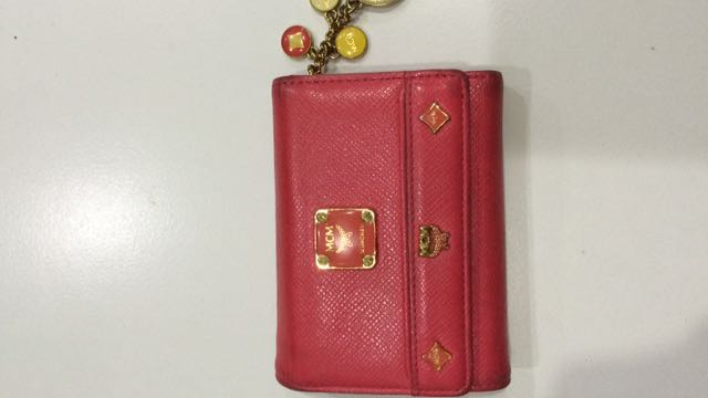 Authentic MCM Bifold Wallet With Charm
