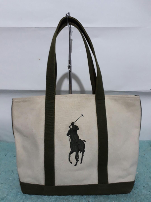 Authentic Ralph Lauren canvas bag