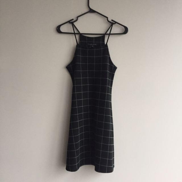 Black plaid dress