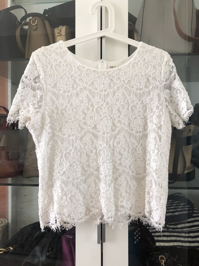 Blouse with Lace - This Is April