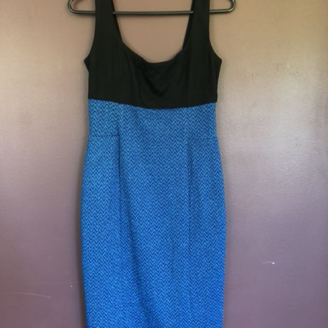 Blue & Black sparkle dress