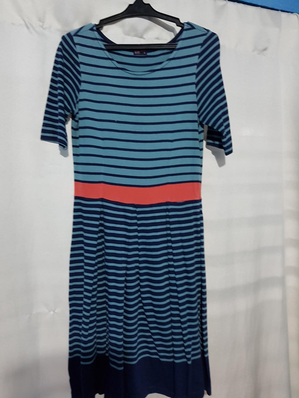 Blued striped dress