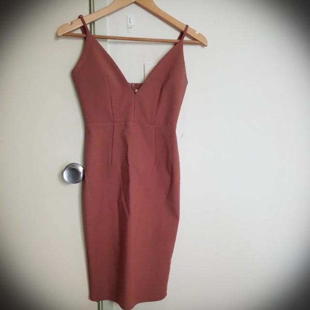 Blush bodycon dress