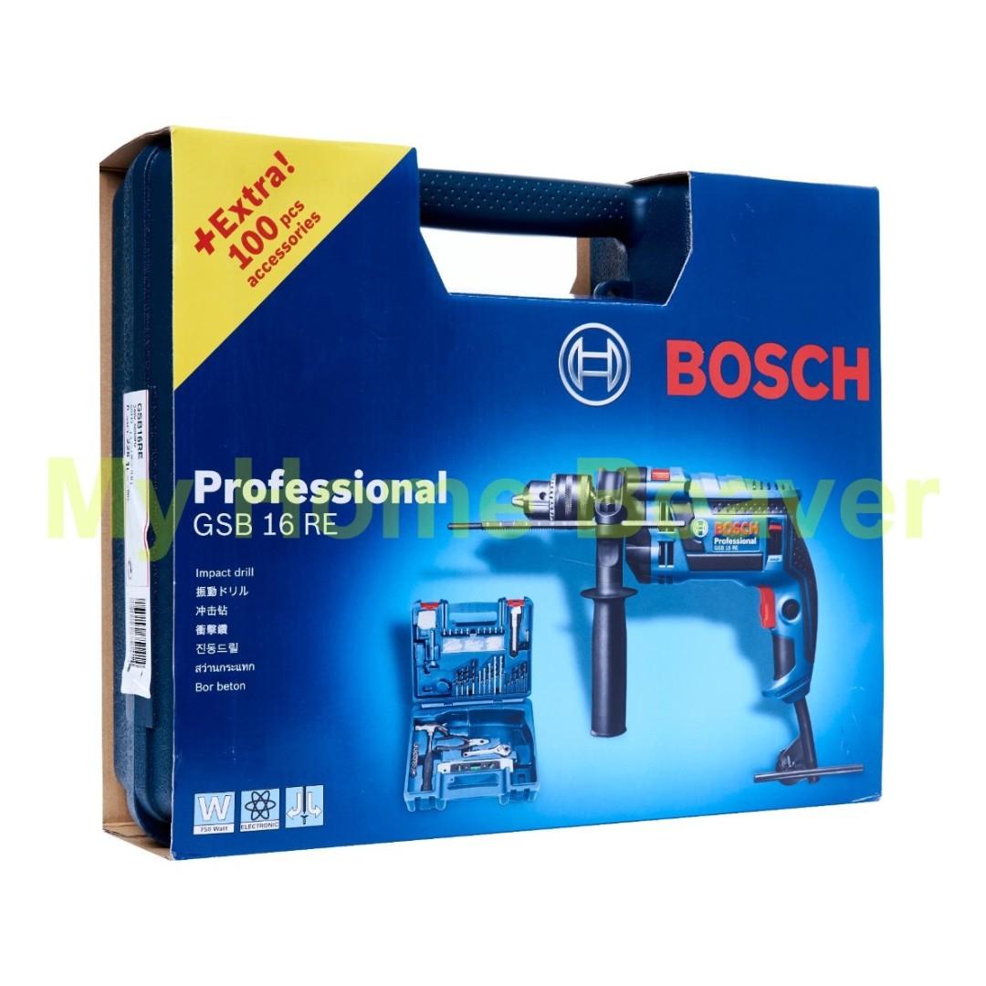 Bosch Bor Beton 16mm Gsb 16 Re Daftar Harga Terlengkap Indonesia Mesin 16re Impact Drill Professional With Accesories 100pcs Source Photo