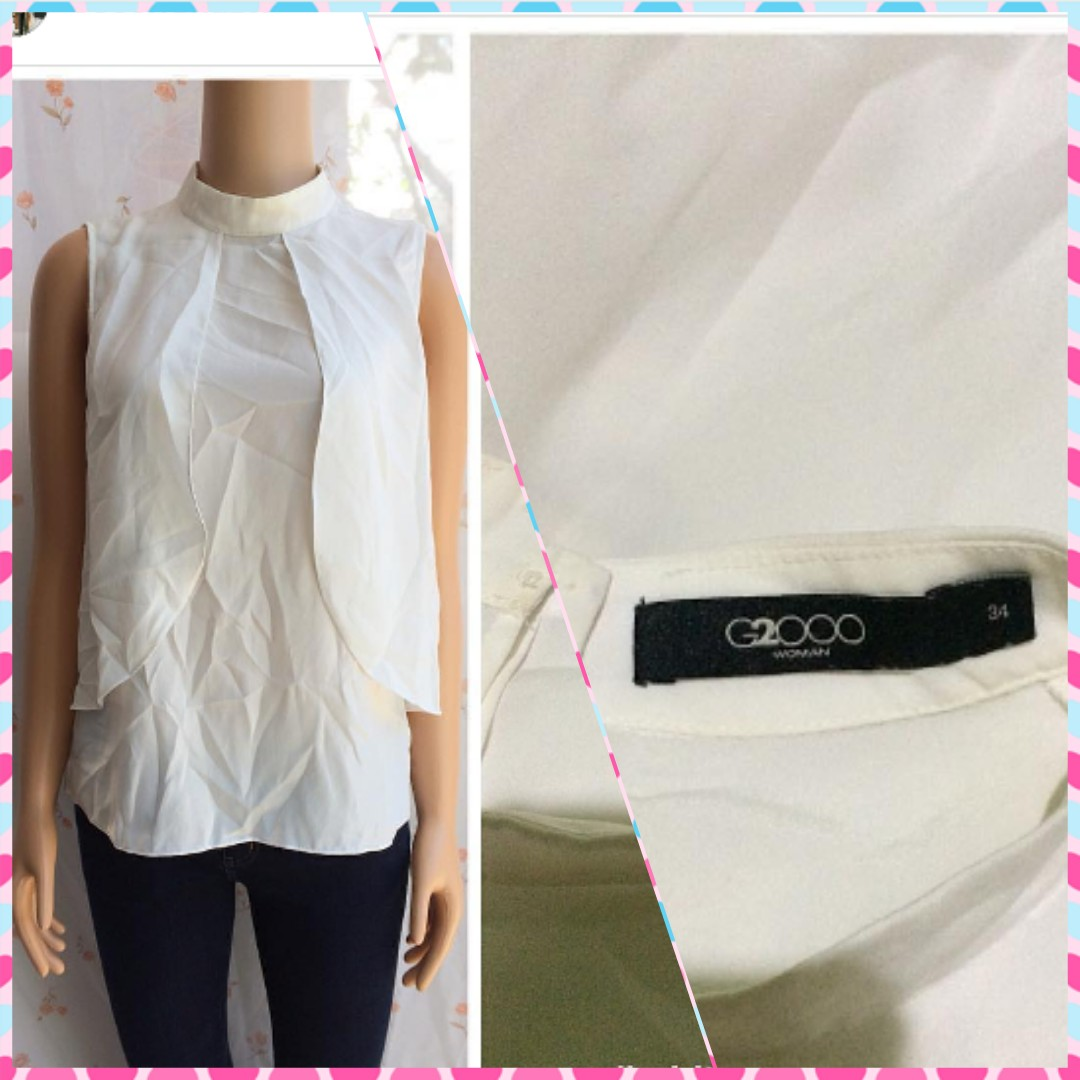 BRANDED.. WHITE BLOUSE FIT M