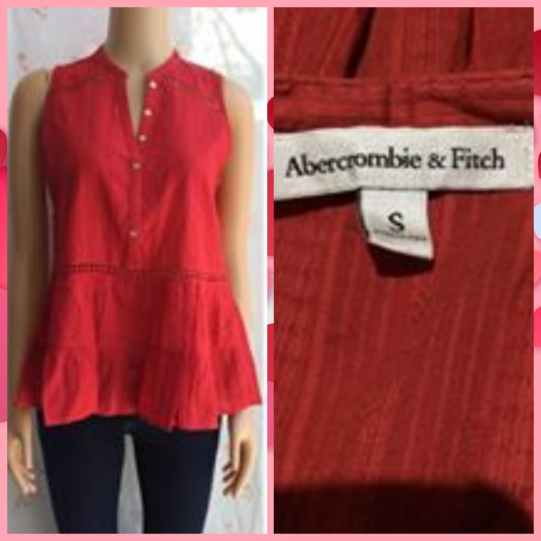 BRANDED...RED BLOUSE FIT M