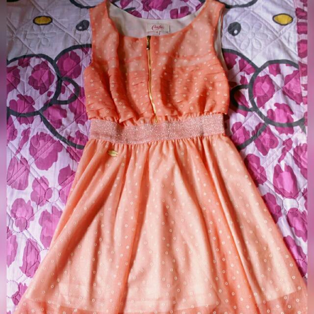 Candie's Peach Dress