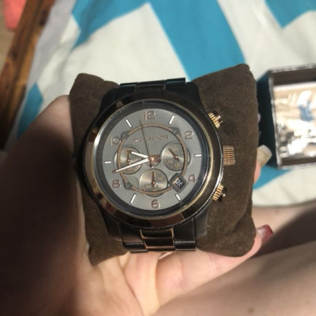 Charcoal and Rose Gold watch
