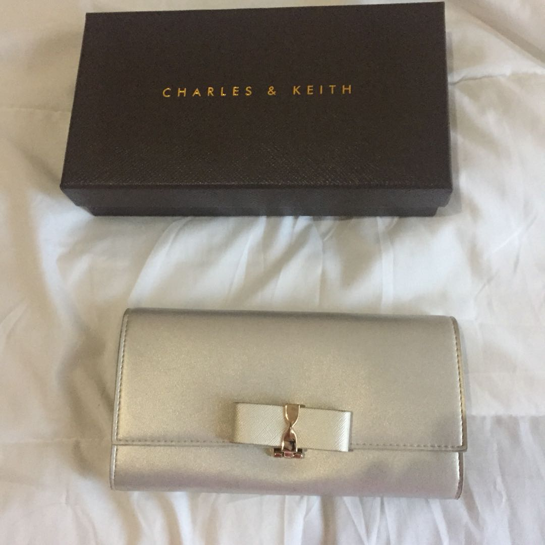 Charles & Keith Silver Bow Wallet