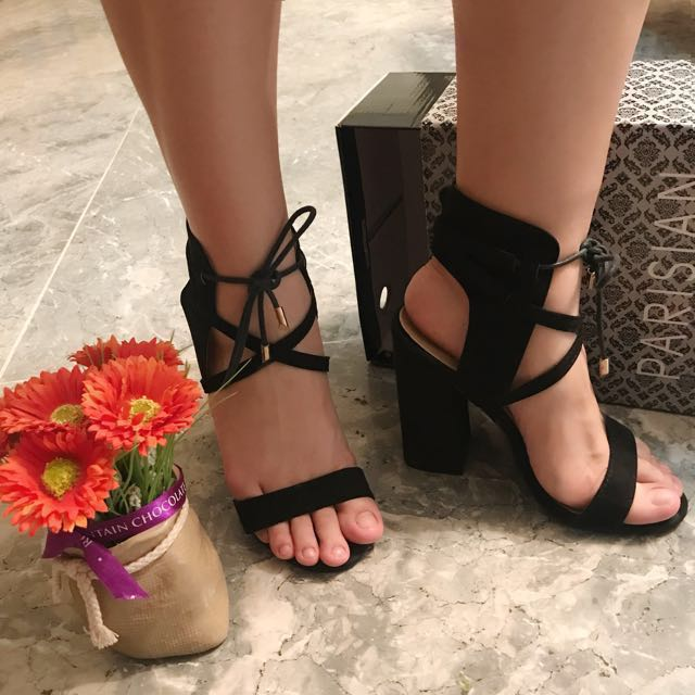 Classy Black Sexy Heels Nadine Lustre Collection SM Parisian good as new Size 7 excellent condition used 3x or less for photoshoot and party