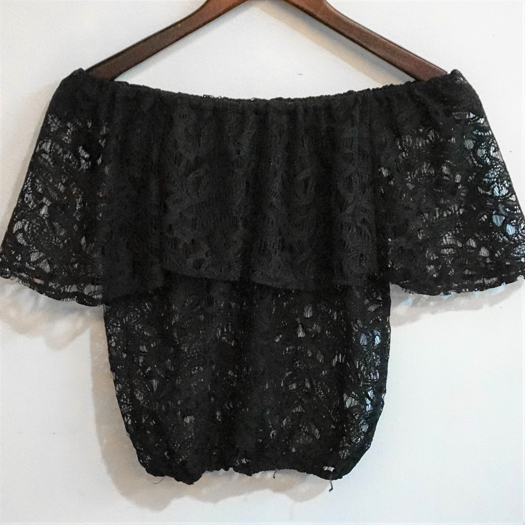 CLEARANCE SALE | shopcopper | Lace Off Shoulder Top